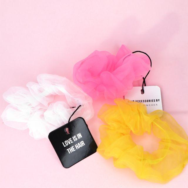 MESH Scrunchie Pink